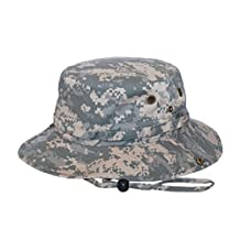 Washed Hunting Fishing Outdoor Hat, Digital Camo -Large