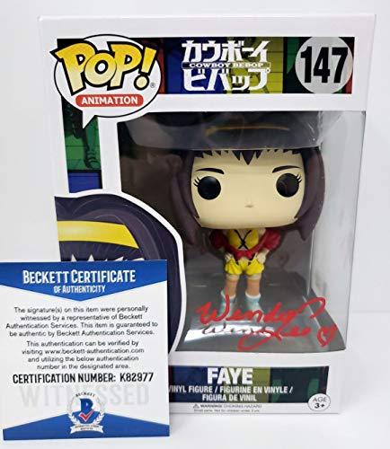 Wendee Lee autographed Funko Pop Figure Cowboy Bebop Faye Valentine Beckett