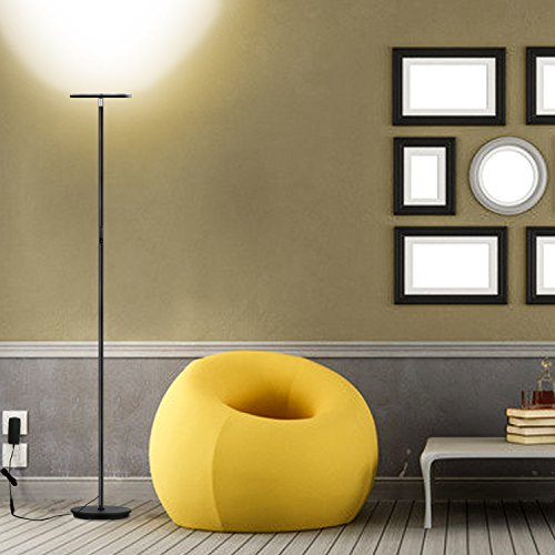 Vacnite LED Torchiere Floor Lamp, Smart Touch Dimming,  71 Inch,36 Watt,Super Bright Warm White For ...