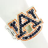 NCAA Auburn Tigers Team Logo Rhinestone Stretch Ring