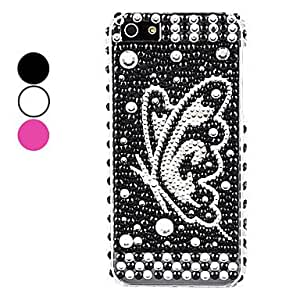 GJYButterfly Pattern Hard Case for iPhone 5/5S (Assorted Colors) , White