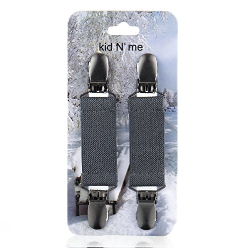 Kid n' Me Extra Strong Mitten Clips Stainless Steel Flexible Elastic Reliable Grip Strength Versatile Keeper