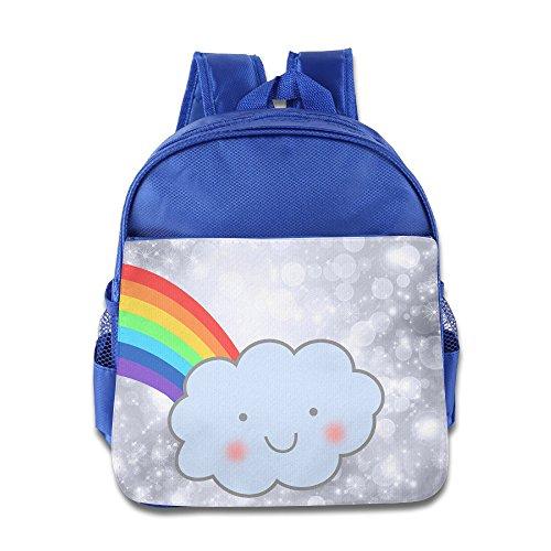 Price comparison product image OurLove Rainbow Cloud Girl Bookbag Backpack School Size Size Key RoyalBlue