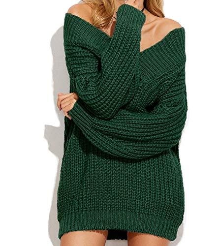 Donna Grün Primaverile Maniche Marciay Slim Camic Baggy Pullover Fit Lunghe Elegante PRwxdvw