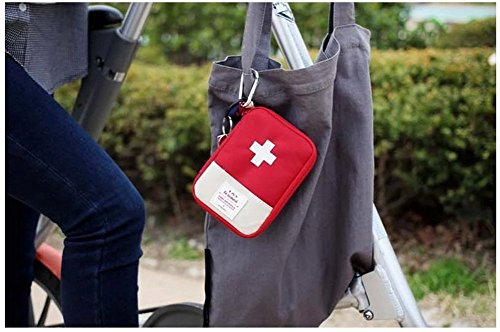 Mini bolsa médica Kit de primeros auxilios Bolsa de embalaje de drogas Viaje al aire libre Portable Red 7