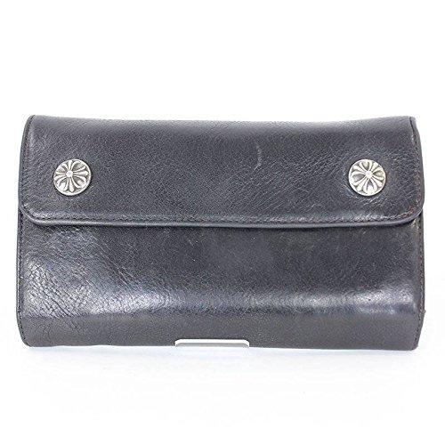 (クロムハーツ)Chrome Hearts 【WAVE】クロスボールボタンレザーウォレット財布(ブラック×シルバー) 中古 B0793P9TJ3
