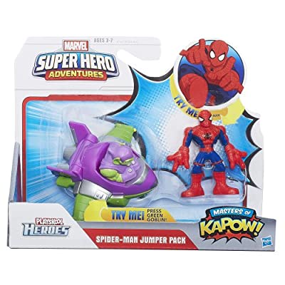 Marvel Super Hero Adventures Spider-Man Jumper Pack Masters of KAPOW!: Toys & Games