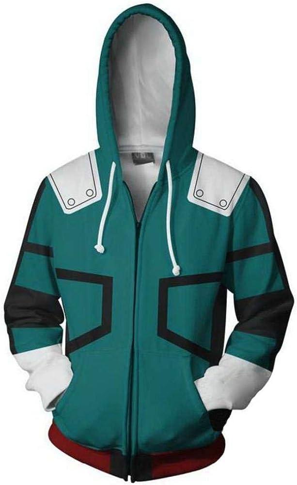 Coshome Anime Boku No My Hero Academia Cosplay Costumes Hoodies H Sweatshirts Bakugou Todoroki Shoto Spring Jacket Coat
