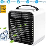 Wassteel Portable Mini Air Conditioner Cooler Fan Negative Ion Air Cooling Fan