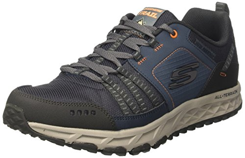 Mens Skechers Escape Plan Oxford Navy / Arancio