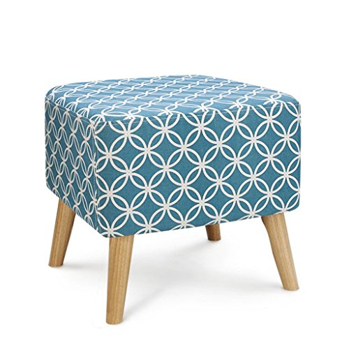 AIDELAI Bar Stool Chair- Stools Shoe Shoe Sofa Stool Fabric Shoes Shoe Solid Wood Stool Small Dressing Stool Coffee Table Pier Stool Saddle Seat (Color : A) ()