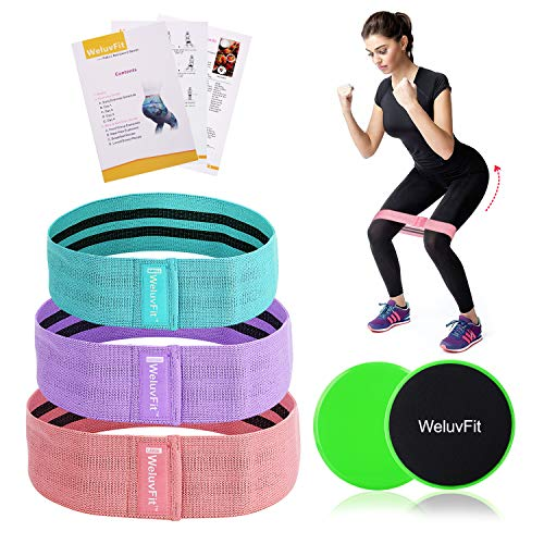 WeluvFit Resistance Exercise Bands Set and Core Sliders w/ Pouch Only $17.99 (Was $30)