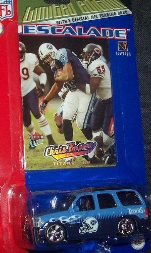 (Tennessee Titans NFL Diecast 2005 Cadillac Escalade with Chris Brown Fleer Ultra Trading Card)