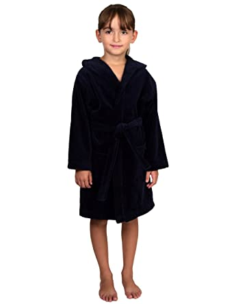 TowelSelections Little Girls  Turkish Cotton Hooded Terry Velour Kids  Bathrobe Cover-up Size 4 39ba26042