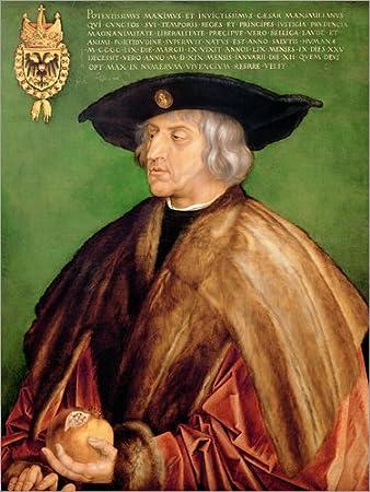 Poster 30 x 40 cm: Kaiser Maximilian von Albrecht Dürer - hochwertiger Kunstdruck, neues Kunstposter