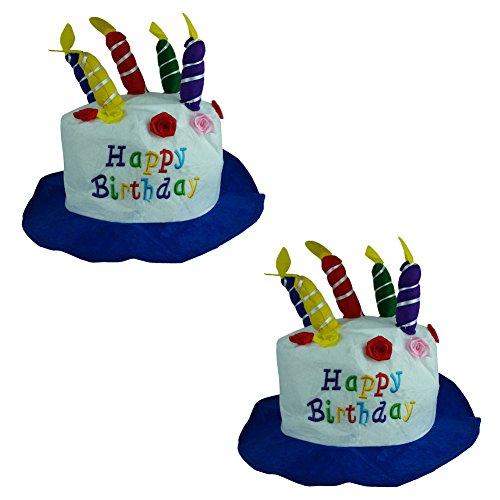 Felt Birthday Cake Candles Hats