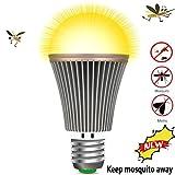 OSIDU Mosquitoes Repellent Light – LED Bug Light Bulb Outdoor Mosquitoes Flies Bugs Repellent Porch Light Bulb LED Warm Lamp Home Pest Control for Indoor Garden Patio Deck Lawn Farm E26 E27 110V 12W