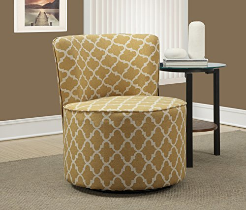 "Monarch Specialties Gold ""Inchantern"" Fabric Accent Chair wi"