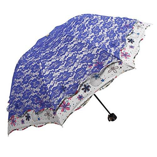 b891f22f9574 Reinhar Black Folding Women Umbrella Automatic Rain Light Female ...