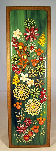 Festive Garden Celebration - Fused Glass Art #WL93