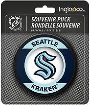 Kraken Hockey Puck Retro Style Logo Souvenir Hockey Puck
