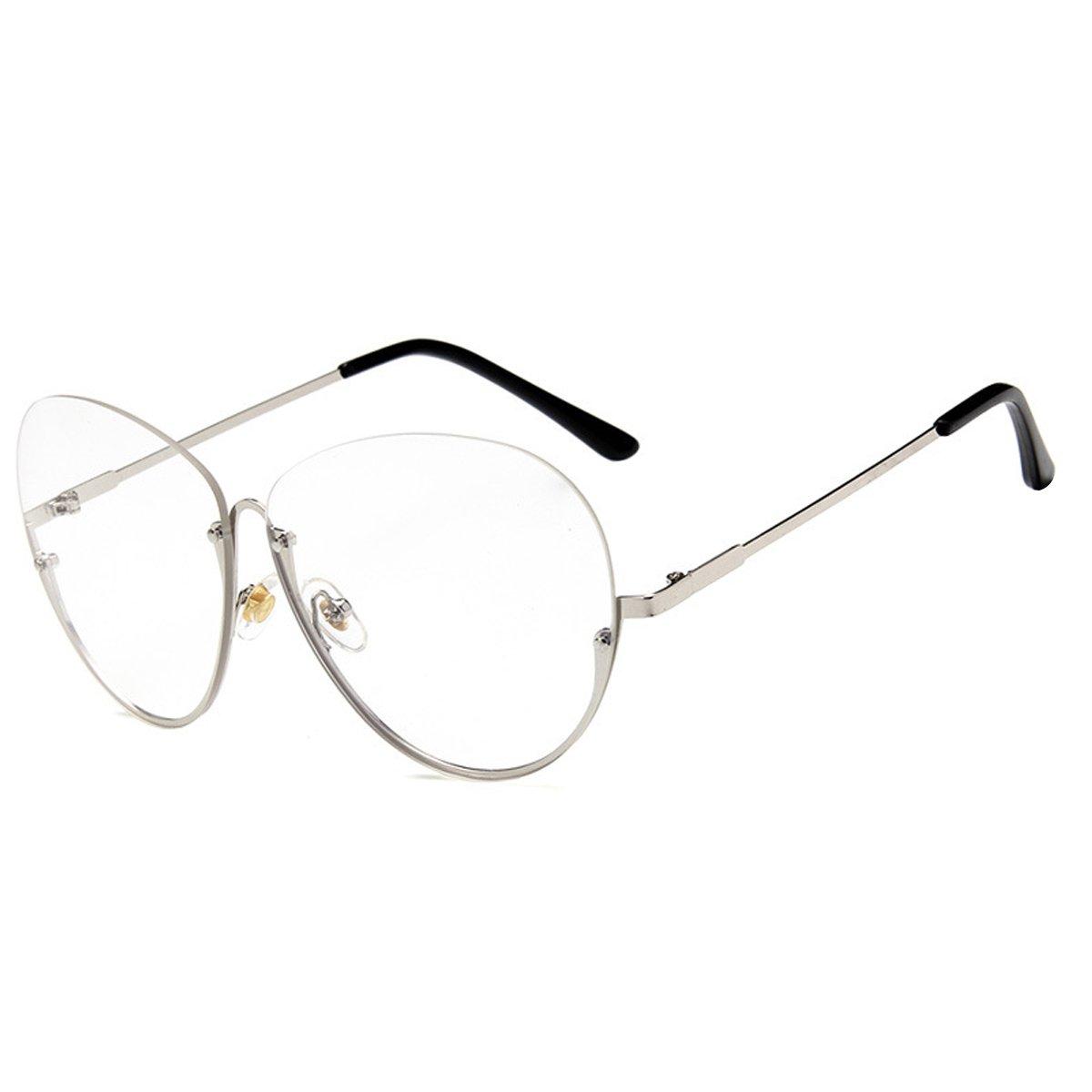 699636c291f05 AiSi Damen Rund Metall klassische Brille, Brillenfassung, Aviator ...