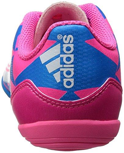 adidas F10 IN - Zapatillas de fútbol infantiles - rosa y azul