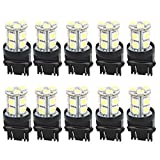 Car 3157 5050 SMD 13 White LED Brake Parking Light Bulbs 4114 10 Pcs