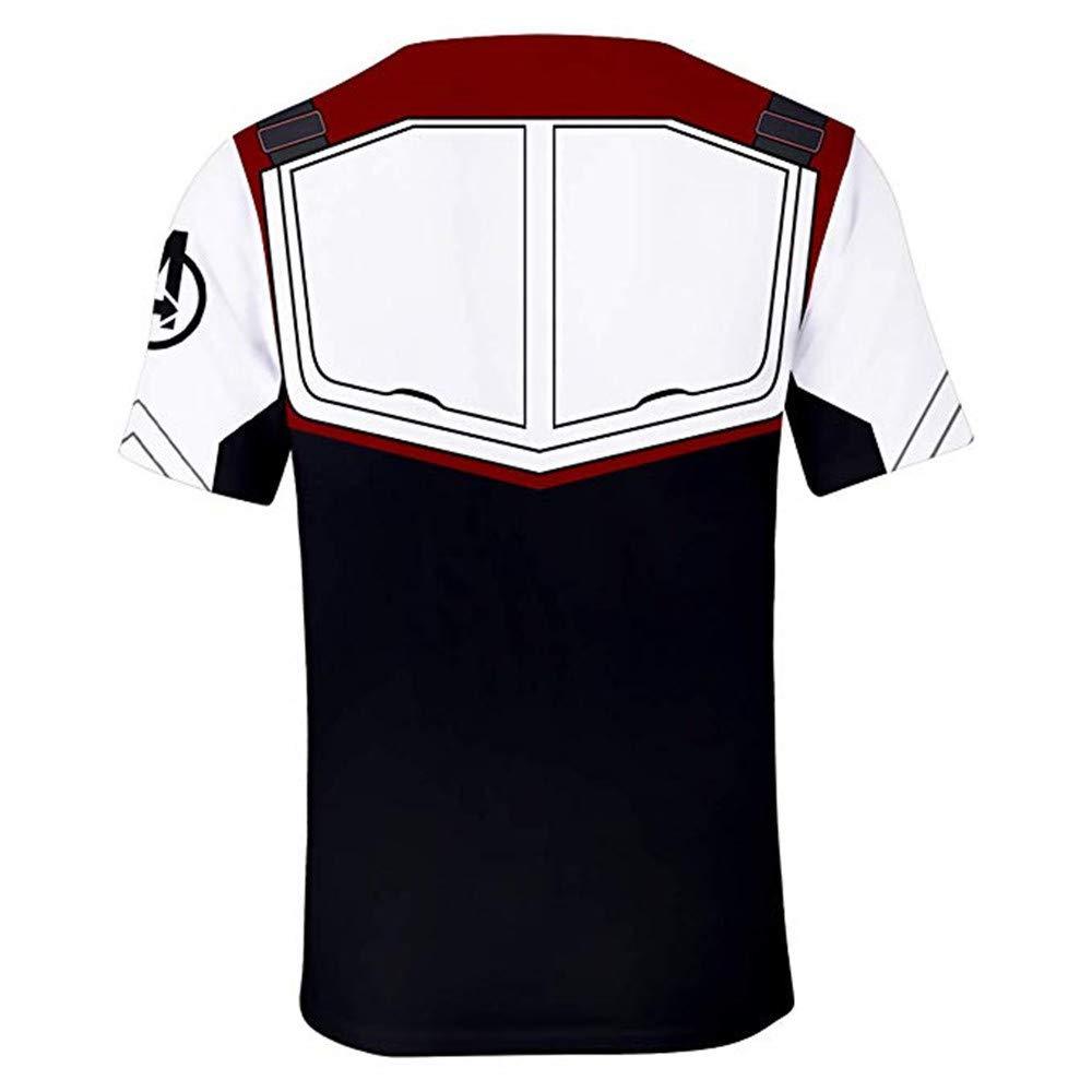 Adult Avenger's Endgame Quantum Realm Hoodie Jacket Costume Cosplay Costume Zipper Pullover Shirts Sweatshirt. (3:T-Shirt, XX-Large)