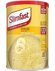 SlimFast Maaltijdschudden, bananensmaak, nieuw recept, 16 porties, 584 g afvallen en houden het uit