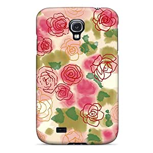 Hot AKxrENn6153ZNbnL Roses Tpu Case Cover Compatible With Galaxy S4