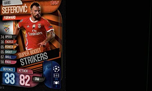 Amazon Com 2019 20 Topps Uefa Champions League Match Attax Super Boost Strikers Sbi 13 Haris Seferovic Sl Benfica Official Futbol Soccer Trading Card Game Playing Card Collectibles Fine Art