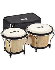 RockJam 100300 Bongo Drums Met Draagtas & Stemsleutel, natuurlijk