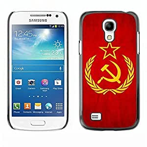 Shell-Star ( National Flag Series-Soviet Union ) Snap On Hard Protective Case For Samsung Galaxy S4 MINI / i9190 / i9192 by heywan