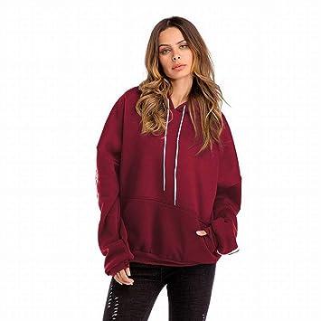 21f065d1d42 Good dress Autumn and Winter Plus Size Women s Pure Color Drawstring Hooded  Sweater Women Plus Velvet long Sleeve Pocket Shirt Women