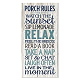 Cheap Porch Rules Rustic Wood Wall Sign 9×18
