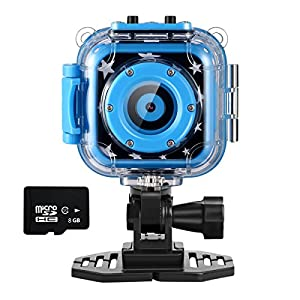 Ourlife kids Waterproof Camera with Video Recorder includes 8GB memory card