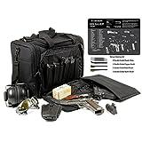 "Explorer Rangemaster Large Padded Deluxe Tactical Range Bag - Gear Bag Bonus Tek Mat SIG P226 Exploded View Cleaning Mat & 5pc Pick -Brush Set (11"" x 17"", SIG 226)"