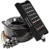 Seismic Audio - SAXQ-16x8x100 - 16 Channel 100' XLR Snake Cable with XLR and 1/4'' Returns on the Box