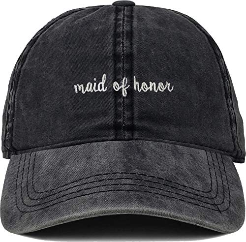H-214-MOH06 Bridal Dad Hat Unconstructed Baseball Cap: Maid of Honor