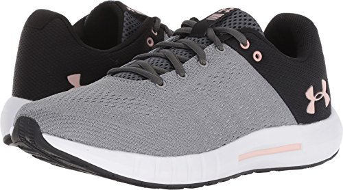 Under Armour Women's Micro G Pursuit D Running Shoe, Steel (102)/Black, 10