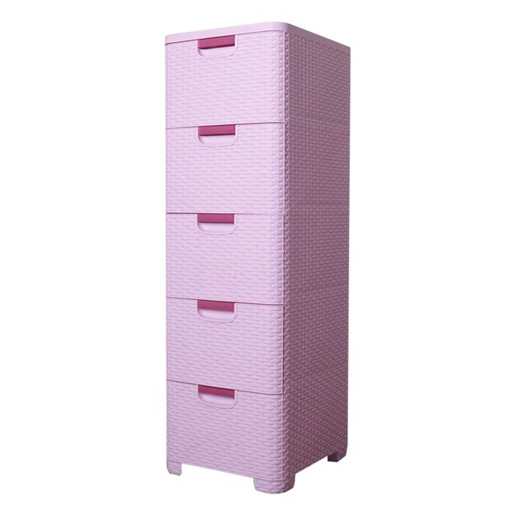 Boîte de rangement multifonction, type en plastique multicouche de tiroir de table de chevet, chambre à coucher, boîte de rangement de jouets pour bébés, 35 * 40 * 108CM (Couleur : Purple)