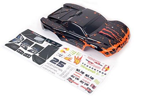 Muddy Monster Red/Black Body for 1/10 Slash Shell Cover 6811 Truck Car (Truck not (Monster Truck Body)