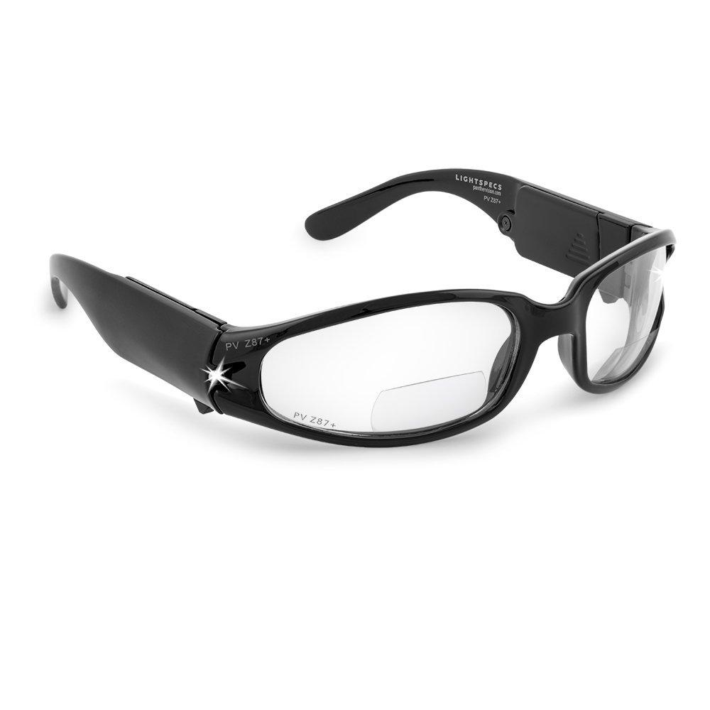 LIGHTSPECS Bifocal Impact Resistant Lense LED Safety Glasses