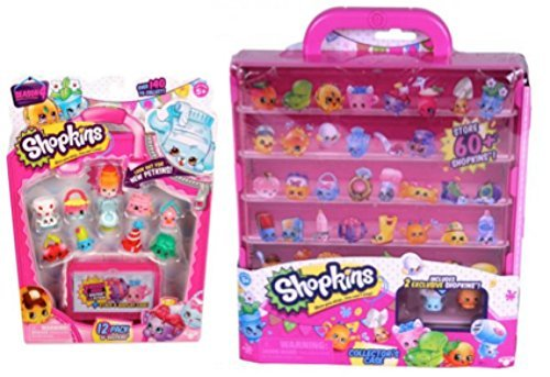Shopkins Season 4 Pink Collector Case + Season 4 12-Pack