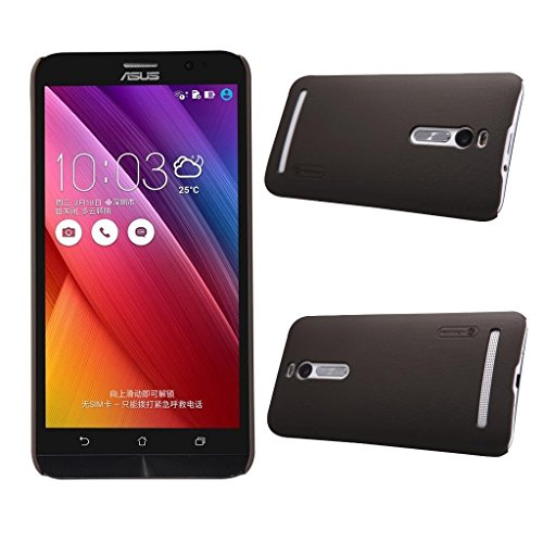 Zenfone 2 ZE550ML / ZE551ML Shield Case, Monoy Super Frosted Shield Hard Case Cover With Screen Protector Compatible for ASUS Zenfone 2 ZE550ML / ZE551ML, 5.5'' Display (Brown Shield Case)