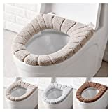 cushion toilet seat HaloVa Toilet Seat Covers, Soft Thicker Toilet Seat Pads, Warmer Stretchable Bathroom Toilet Seat Cushion, Pack of 3