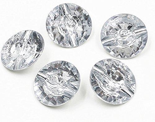 JLC Crystal Plastic Button Nail Art Acrylic Rhinestone Faceted Rivoli Button 33MM (Pack Of 200pcs) ()