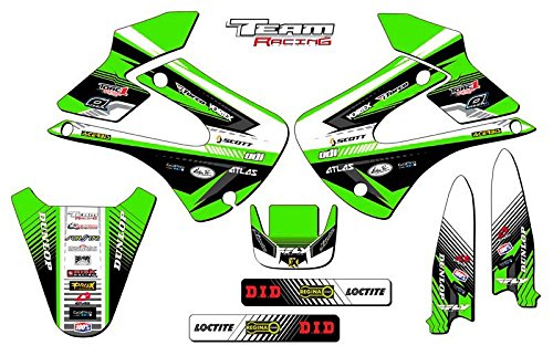 Team Racing Graphics kit for 2001-2013 Kawasaki KX 85/100, ANALOG Base kit