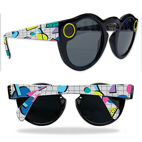 MightySkins Protective Vinyl Skin Decal for Snapchat Spectacles wrap cover sticker skins Awesome - Spectacles 80s